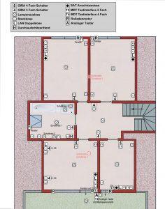 Elektro Planung Obergeschoss