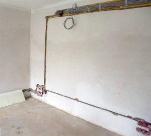 Verkabelung Wohnzimmer